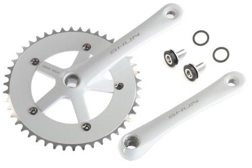 SHUN Track Fixie Crank Crankset 170mm 46T White