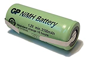 Tagged Spare Rechargeable Braun Oral-B Toothbrush Replacement Battery (42mm x 17mm High Capacity)