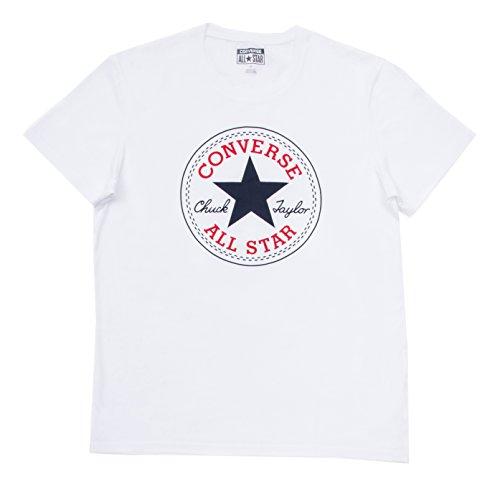 Converse - 08335C, T-shirt da uomo, Bianco (White), L/L