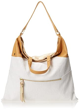 Foley + Corinna Convertible Shoulder Bag,White Canvas,One Size
