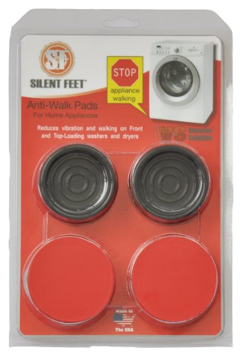 Premium Crimson Red Anti-walk Silent Feet - Anti-Vibration Pads for Washing Machines and Dryers