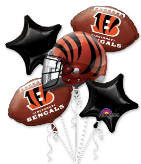 Anagram International Bouquet Bengals Party Balloons, Multicolor at Steeler Mania