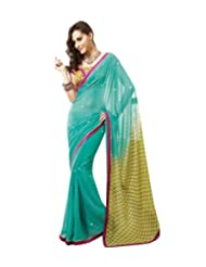 Triveni Designer Fancy Saree With Unstitch Blouse - 4024