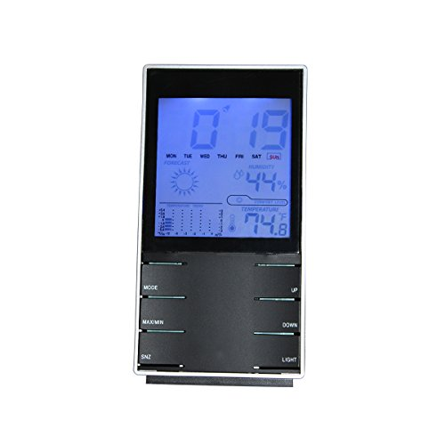 [Deals Sales Today 2016] IBEET 6 in 1 Multifunctional Electronic Indoor Weather Station - Thermometer, Hygrometer, Humidity, Alarm Clock, Weather