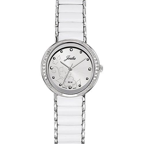 Joalia 631147 - Orologio da polso donna, acciaio inox, colore: bianco