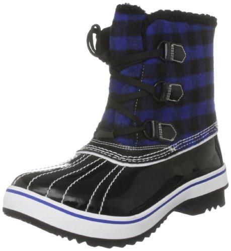 Skechers Women's Highlanders-Ice Pack Ankle Boot,Black/Royal,5 M US