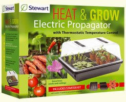 Stewart 52cm Heat  &  Grow Electric Propagator With Thermostatic Temperature Control