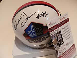 Willie Lanier Kansas City Chiefs Signed Autographed Hall of Fame Hof Mini Helmet...