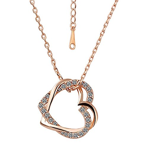 fourheart-gorgeous-18k-rose-gold-plated-austrian-crystal-heart-pendant-necklace