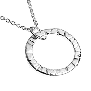Infinity Silver-dipped Necklace on 18