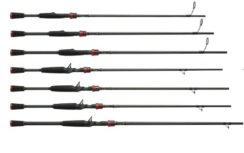 Abu Garcia 1-Piece Vendetta Series Baitcast Rod, 6-Feet 6-Inch, Medium