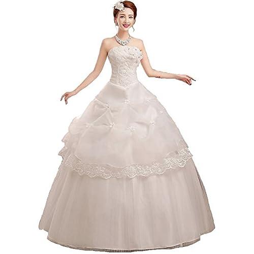 셀프웨딩 파티드레스 웨딩 드레스 벨 라인 비스 최 타입 편인상 순백