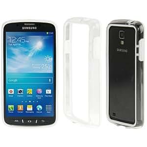 Crazy4Gadget Transparent Plastic + TPU Bumper Frame for Samsung Galaxy S IV Active / i9295(White)