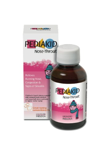Nose Throat Pediakid All Natural Liquid Children Vitamins & Mineral Supplement to Help Fight Colds and Soothe Respiratory System