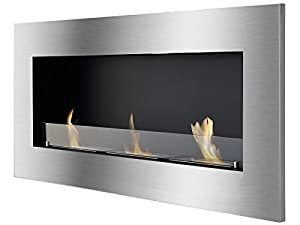 Ignis Optimum Recessed Ventless Ethanol Fireplace with Glass