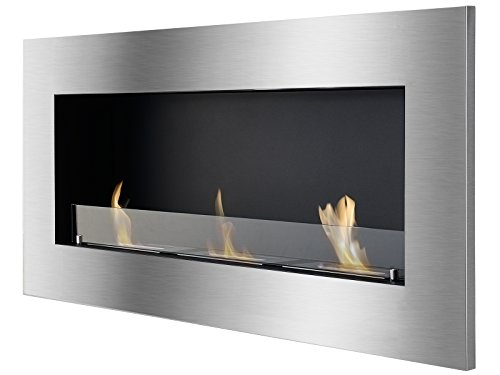 Ventless Ethanol Fireplace - Optimum With Front Glass, Recessed Ethanol Fireplace By Ignis