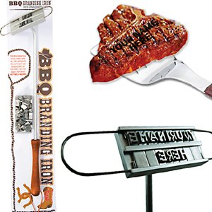 BBQ personalized steak meat beef gas grill BRANDING iron PARTY novelty PICNIC NEW grilling