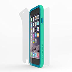 Rhino Shield Crash Guard Bundle for iPhone 6 Plus - Green (includes: Bumper, Front Screen Protector, Rear scratch Protector Shield)