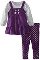 Calvin Klein Baby-Girls Infant Tunic With Leggings, Purple, 18 Months