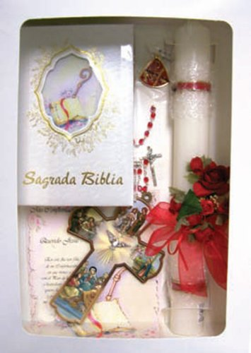 Confirmation Gift Set - CNB Candle, Keepsake, Rosary, Bible, Pin - ENGLISH