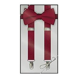 Suspender & Bow Tie Set (Adult, Apple Red)