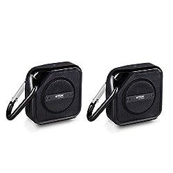 TDK Life On Record A12-2PK Trek Bluetooth Wireless Speaker, 2 Pack (Black)