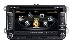 See susay(TM) for Volkswagen VW Golf Jetta? Scirocco ?Tiguan ?Passat B5/B6 ?EOS? Caddy? Sagitar? Magotan Car DVD Player With GPS Navigation(free Map)Audio Video Stereo System with Bluetooth , USB/SD, AUX Input, Radio(AM/FM), TV, Plug & Play Installation Details