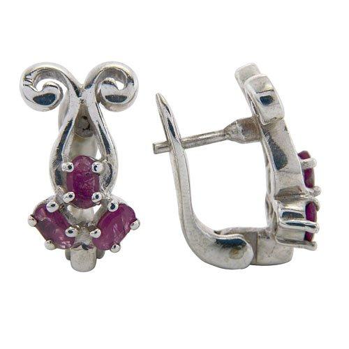 7+g Natural Red Ruby Gemstone Genuine 925 Sterling Silver Huggie Earring Pair