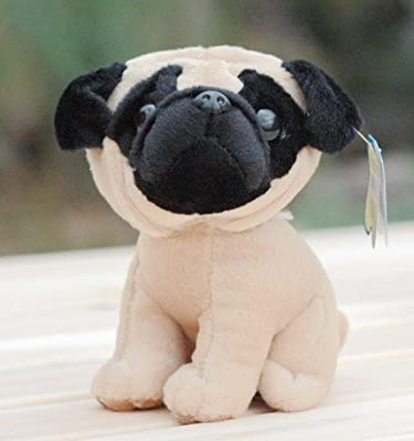 1 Piece of Very Cute Plush Toy Animal Pug Small Dog Stuffed Toy Kids Love Most
