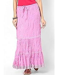 Soundarya Women Cotton Skirts -Purple -Free Size - B00MPU0GQQ