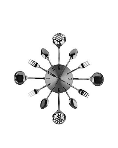 Premier Housewares Reloj De Pared Silver
