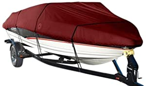 Wake Monsoon Series Model E Boat Cover (Red, Fits 20 to 22-Feet (beam idt to 106-Inch)