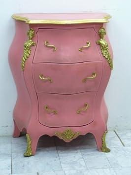 Barroco en el pecho de cajones rosa/rosa rococó Louis Pre Victoriano MoCoC07022
