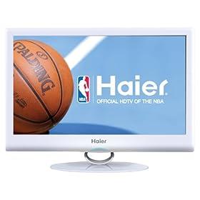 Haier HLC19SLW2 White 19-Inch Ultra Slim LED LCD HDTV DVD Combo