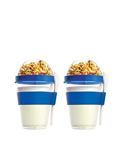 asobu Set of 2 YO2GO Yogurt Containers, Blue