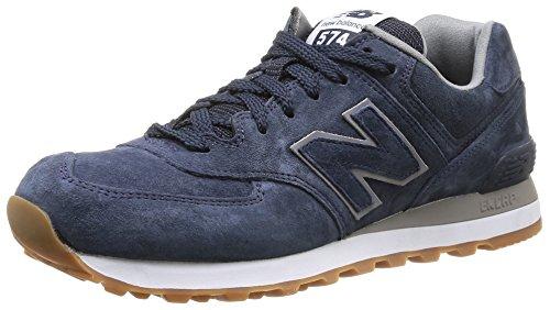 New Balance NBML574FSN Sneaker, Unisex, Blu (Navy Full Pigskin), 43