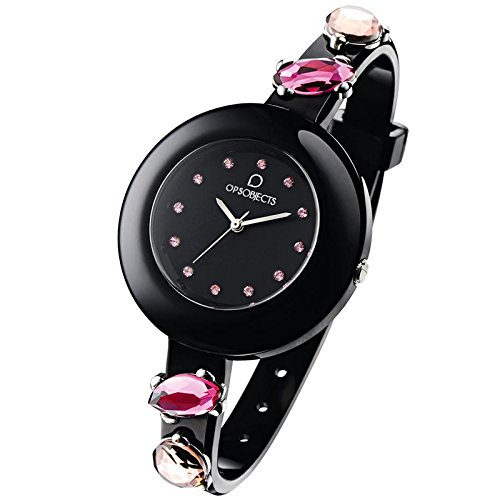 OPUS SYSTEMS OBJECTS OPSSTONE WATCHES · Armbanduhr | Uhrarmband | Uhrband · schwarz pink silber