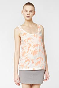 L!VE Sleeveless Splatter Painted Jersey Tank Top
