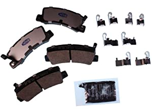 NEW REAR BRAKE PAD KIT BY MAGNETI MARELLI W/COMPLETE HARDWARE MOPAR 1AMV20325Y