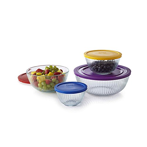 Pyrex 1112377 8-pc Sculptured Mixing Bowl Set