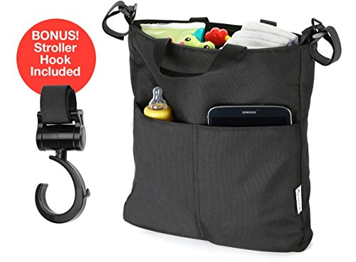 Stroller Organizer + Stroller Hook, Classic Neat and Practical