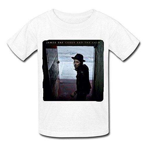 Big Boys'/Girls' Chaos And The Calm James Bay T-Shirt - WhiteYILIAX10294XLarge
