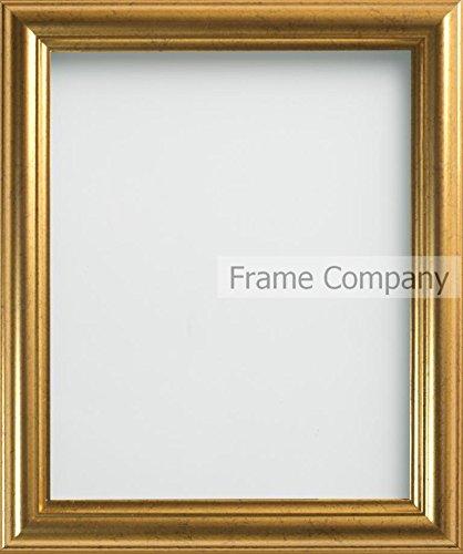 Frame Company - Cornice portafoto dorata, misure varie 16x12 inches - 40.6x30.5cm oro
