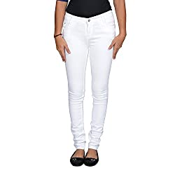 Western House Denim White Skinny Casual jeans for girls