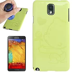 Magic invisible Fluorescent Effect Plastic Case for Samsung Galaxy Note 3 N9000 in Green