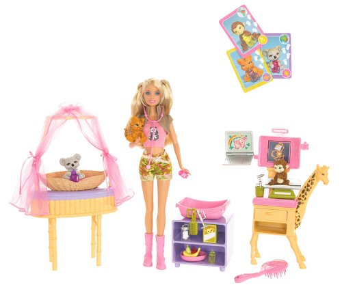 41IL9UNUcTL Cheap Price Mattel Barbie I Can Be Zoo Doctor Playset