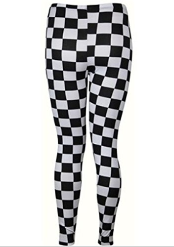 Hot Sale! New Sexy Black White Cell Leggings For Women Stretchy Pants front-1042165