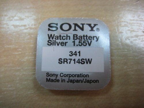 341 Sony Uhrenbatterie SR714SW, knopfzelle