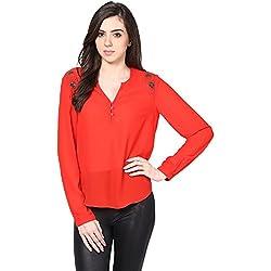 Harpa Women's Body Blouse Shirt (GR2448-Coral_X-Large)