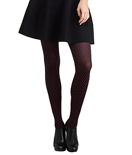 hue-womens-dotty-tights-w-control-top-size-s-m-black-beetroot